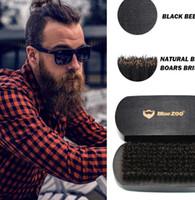 yeni sakal stilleri toptan satış-Yeni Sakal Fırçası erkek Tıraş Fırçası Erkekler Yüz Sakal Temizleme Aletleri Sakal Şekillendirme Şekillendirici Şablon Jilet Fırça LJJK1608