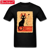 Wholesale stamps for sale - Group buy Hairless Cat Stamp Pattern T Shirts Funny Black Cat Retro Tee Shirt Top Quality Streetwear Men Tshirts
