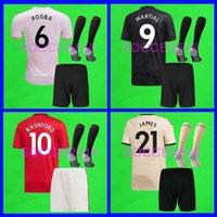 futbol formaları ekip takımları toptan satış-S-4XL manchester united 2019 2020 Manchester RASHFORD Homem Lukaku LINGARD Unidos POGBA UTD versão do jogador de futebol Jerseys 19 20 crianças mulheres kit de camisas de futebol