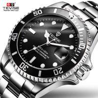 relojes de marca tevise al por mayor-TEVISE lujo mecánico automático de los relojes del deporte del zambullidor hombres de la marca de relojes de pulsera de reloj de negocios Hombre Reloj Masculino Relógio