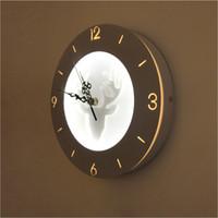 reloj de pared con luz led al por mayor-Reloj LED Lámparas de pared, niños, montados en la pared, lámpara de noche, lámpara de acrílico, color blanco, iluminación interior, lámpara de pared LED para sala de estar, dormitorio