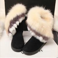 zapatos schneestiefel groihandel-Mode-Frauen-Winter-Schnee-Aufladungen für Frauen Warme Botte Femme Grundlegender Pelz Wedges Australia Boots Damen Botas Schuhe Mujer