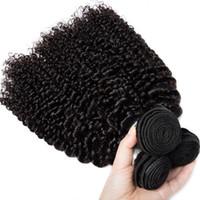indien remy kinky curl achat en gros de-3 faisceaux indiens Kinky Curl 100% non transformés de cheveux humains tissent des extensions de cheveux de qualité 8A Remy tissent les cheveux non transformables