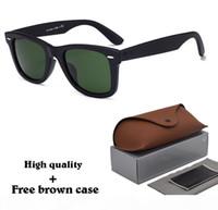 Wholesale coloured glasses men resale online - 8 Colour High Quanlity Metal hinge Sunglasses men women Brand designer sun glasses Plank frame glass lens uv400 Goggle with cases and box