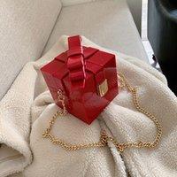 bolsa de caixa vermelha de mensageiro venda por atacado-Bow alta qualidade Lady sacola 2019 novíssimo Vintage Cadeia Designer de luxo Messenger Bag Ombro Moda Red Box Mulheres Handbag