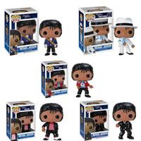 figura modelo coleccionable al por mayor-Funko pop BEAT IT figura de acción de Billie Jean Michael Jackson BAD modelo de juguete de colección para chlidren