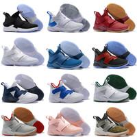 sapatos de basquetebol de edição limitada venda por atacado-2019 Novas Lebron Soldados 12 Edição limitada BHM Cavs Tribunal Geral Shoes Mens Basketball Sports Finals Black Gold roxo Sneakers Size7-12
