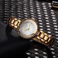 vestidos de designer moderno venda por atacado-Famosa Marca de Diamante Relógios de Luxo das Mulheres de Moda Moderna Relógio Pulseira de Designer de Prata Rose Gold Relógio de Quartzo Vestido de Menina relógios de Pulso