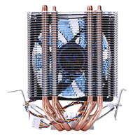 ventilateur cpu de 1155 achat en gros de-Lanshuo 4 Heat Pipe 4 Wire Avec Ventilateur Simple Cpu Ventilateur Cpu Radiateur Dissipateur de Chaleur Pour Intel Lga 1155/1156/1366 Refroidisseur Si