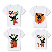 Wholesale white bunny toy resale online - Hot Sale Bing Bunny Short sleeved White Cotton Children s Clothing Bing Bunny Toys Cartoon Children s Boys and Girls Clothes