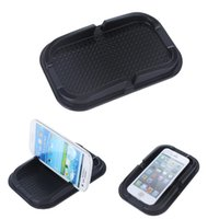 Wholesale anti grip slip pad online - For smartphones Car phone holder grip Creative Design Black Car Non Slip Sticky Auto Anti Slip Dashboard Pad Mat Holder