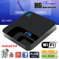 Wholesale quad receiver for sale - Group buy H6 Android Smart TV BOX G DDR3 GB EMMC Set Top Box K D H Wifi media player TV Receiver