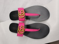 ingrosso flip flop nero donne-Sandali infradito in pelle da donna Pantofole Desinger di lusso moda infradito nero Infradito scarpe di marca Ladie beige Scarpe sandali pinne CON SCATOLA
