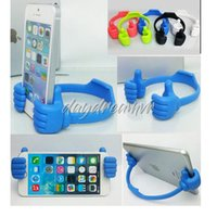Wholesale free shipping ipad tablet online – Colorful The thumb OK Stand Holder For Ipad Tablet PC IPhone plus X XR Samsung Note DHL with retail box