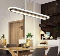 акриловая столовая лампа оптовых-Современные фары светодиодные подвесные для офиса Столовая Кухня Бар Акриловый прямоугольник Luminaire подвесной светильник для дома MYY