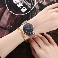 hermosas mujeres reloj al por mayor-Hermosa manera simple del reloj de acero de Gaza mujeres del reloj de los hombres de cambios mecánica relojes de las mujeres del reloj de pulsera