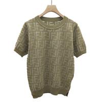 suéteres de manga corta para mujer. al por mayor-Buenas mercancías suéter de manga corta T-manga 2019 Verano moda delgada mujer Dongguan fábrica spot tiro real
