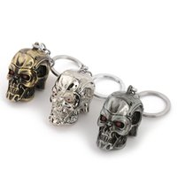 Wholesale terminator keychain resale online - 3 Color Moive Terminator Dark Fate keychain Skull shape fashion personality zinc alloy keyring car pendant key holder gift toys B1