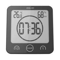 LCD 1 10 Baldr Digital Wall Clock kitchen Watch horloge Mural wandklok  Electronic bathroom waterproof Alarm Clock Temperature time by DHL