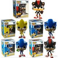 muñecas sonoras juguetes al por mayor-FUNKO POP Sonic Boom Amy Rose Sticks Colas Werehog PVC Figuras de Acción Nudillos Dr. Eggman Anime Pop Figurines Muñecas Juguetes para niños