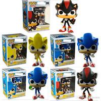 brinquedos de sônica sonora venda por atacado-FUNKO POP Sonic Boom Amy Rose Varas Caudas Werehog PVC Figuras de Ação Knuckles Dr. Eggman Anime Estatuetas Pop Bonecas Brinquedos Infantis