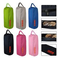 Wholesale shoe storage covers resale online - 2w Portable Waterproof Shoe Bags Organizer Zipper Shoe Bags Multi purpose Travel Storage Case Pocket Outdoor Home Use Bags2