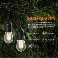 ingrosso stringa e27-Impermeabile 10M 10 LED String Lights Outdoor Outdoor grado commerciale E26 E27 Street Garden Patio cortile stringa di illuminazione