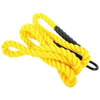 eisen ziehen großhandel-Outdoor Arm Training Seil Polyethylen gelb Pull-Power-String mit Eisenhaken Durable Übungen Seil Fitnessgeräte