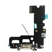 rıhtım fişi toptan satış-Usb şarj portu dock bağlayıcı flex kablo + mikrofon + kulaklık ses jack iphone 7 7 plus şarj için yedek parça flex