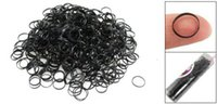 siyah saç örgü bant toptan satış-HobbyLane Bayanlar Siyah Saç Ponytails Örgü Lastik Bant Paketi
