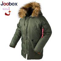 длинный вытяжной колпак для мужчин оптовых- Winter N3B puffer jacket men Women long canada coat  fur hood warm trench camouflage tactical bomber army parka