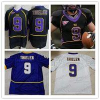 niños púrpura camisetas de fútbol al por mayor-MSU Mavericks 9 de la vendimia de Estado, Adam Thielen Púrpura Negro Blanco Minnesota adultos jerseys para mujer para hombre de Jóvenes Niños universitario NCAA