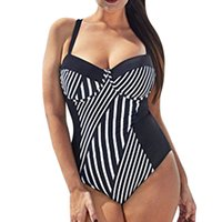 Wholesale xxl padded bikinis for sale – plus size Women striped Bikini Set Sexy Push up Padded Swimsuit Plus Size Swimming Costume Biquini Feminino Mujer Beachwear Swimwear