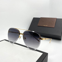 Wholesale half rimless sunglasses for sale - Group buy 0436S designer sunglasses connected lens oval Semi Rimless unisex style sunglasses popular goggle top quality come with case UV