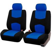 couvre-siège bleu achat en gros de-BlackBlue Car Seat Covers Set Fit La plupart des voitures Covers Autos Seat Protector 4PCS / 9PCS