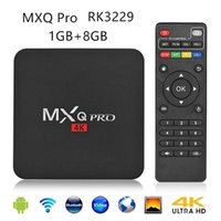 tv feita venda por atacado-Android 7.1 Tv Box MXQ PRO 4 K RK3329 Quad Core 1 GB 8 GB Custom Made Media Player Inteligente Iptv Set Top Box