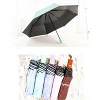 decoração guarda-chuva para casamentos venda por atacado-Ensolarado E Chuvoso Guarda-chuva Da Senhora À Prova D 'Água À Prova de Vento Sombra Guarda-sóis de Viagem Portátil Proteção UV Três-folding Umbrella DBC DH0842
