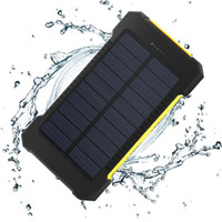 ingrosso batterie per banca di potenza-Solar Power Bank 10000mAh Caricabatterie solare doppio USB Caricabatterie portatile Batteria esterna Bateria Externa Pack per telefoni