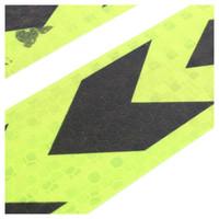 cinta adhesiva amarilla al por mayor-AUTO-Cinta adhesiva de señal de advertencia de auto reflectante amarillo negro 2 piezas