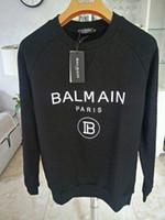 herren-sweatshirts großhandel-Balmain Mens off Designer Sweatshirt Männer Frauen Pullover Schwarz Langarm Pullover Marke Streetwear Fashion Sweatershirt