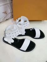 размер 14 каблуков оптовых-Новые женские кожаные повседневные сандалии с поразительным эффектом гладиатора Дизайнерская кожаная подошва Идеальный плоский каблук Обычная сандалия размером 35-46