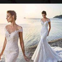 Wholesale 14 k gold for sale - Group buy Eddy K Mermaid Wedding Dresses Sheer Jewel Neck Lace Appliqued Sweep Train Beach Wedding Dress Cap Sleeves Custom Boho Bridal Gowns