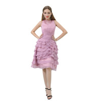 Wholesale prom dresses stores resale online - MB022 Jewel Neck Lavender Princess Prom Dress Corset Beaded Collar Tunic Dress Tiered Skirt Prom Dress Stores Dresses for Women Party