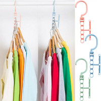 Wholesale folding hanger space for sale - Group buy Multi Function Clothes Hangers Saving Space Closet Organizer Magic Rack Holder