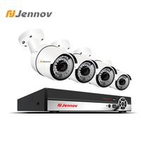 Wholesale ip night vision surveillance systems online - Jennov CH P MP Camera POE Security Camera System Video Surveillance Kit IP HDMI P2P NVR Set Cloud Remote View Night Vision