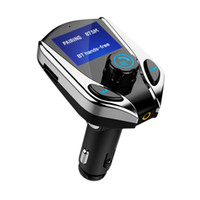 Wholesale wireless power transmitter resale online - 1 Inch Screen Hands Free Wireless Bluetooth MP3 Cigarette Lighter Powered FM Transmitter Support TF Card USB Car Chager