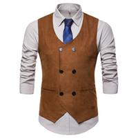 iş smokinleri toptan satış-Erkek Elbise Suit Yelekler Gentleman Resmi Slim Fit Foral Baskı Erkekler Düğün Yelek Smokin Yelek Business Suit Yelek