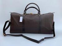 54CM large capacity women travel bags quality men shoulder duffel bags luggage bottom rivet lock, with lock