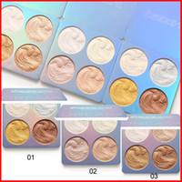 Wholesale mini highlighters resale online - 3 styles CmaaDu Face Makeup Highlighter Mini Dream High Light Palette Eyeshadow Highlighting Shimmer Glitter Cosmetics color