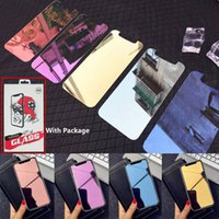 Wholesale color tempered glass for sale – best Mirror Color Tempered Glass Phone Screen Protector for iPHONE PRO MAX Iphone XR X XS Max with package dhl free ship
